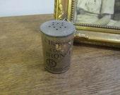 L E KNOTT Vintage Iron Filings Tin. Great home decor.