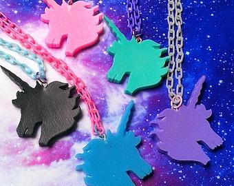 Pastel Goth Unicorn Necklace, Fairy Kei, Lolita, Kawaii