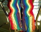 Taste the Rainbow Long Fringed Scarf