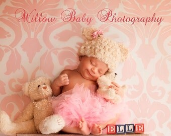 READY Baby Girl Hat  - Baby Boy Hat - Baby Bear Hat -Baby Hat Made with Soft Fluffy  Yarn 0 -12 months