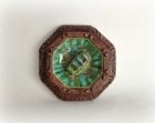 Vintage Tiki Ashtray 1960s Treasure Craft Style Ceramic