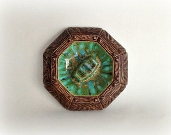 Vintage Tiki Ashtray 1960s Treasure Craft Style Ceramic