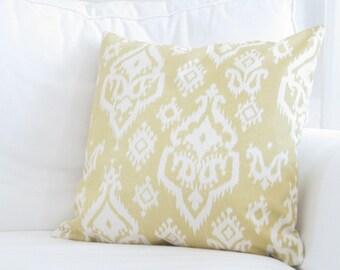 Decorative Pillows, Yellow Ikat Pillow Cover, Yellow Pillows,Yellow Ikat Pillows,Couch Pillows, Chair Pillows, Throw Pillows