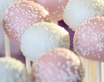 PINK AND WHITE Cake Pops, All Colors Available,  Cake Pops, Bribal Shower Favors, Baby Shower Favors, Recuerdos Para Quiceanera