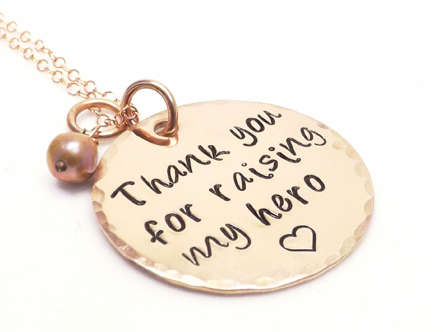 Wedding Gifts For Military Couples: Personalized 1 14K Rose Gold Filled Necklace Wedding