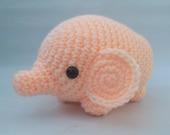 You choose color! Crochet Amigurumi Elephant - soft plush pachyderm - Handmade gift - Collectible Art Doll