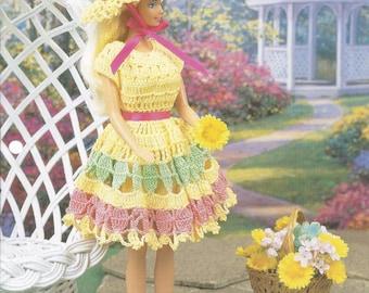 Crochet Pattern Crochet Barbie Doll Pattern Springtime Sundress
