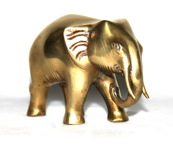 Vintage brass elephant- bookend heavy- great gift for an Alabama fan