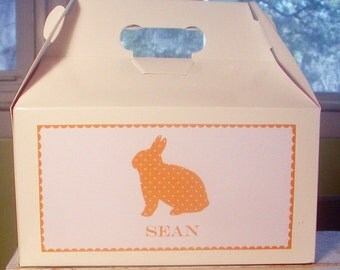Personalized Easter Bunny Gable Boxes - 72 color choices