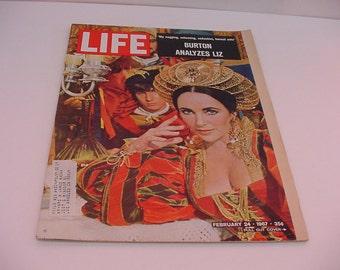 Life Magazine Feb 24, 1967 Burton Analyzes Liz Kool Cigarettes Advertising 35 cents Pull Out Cover