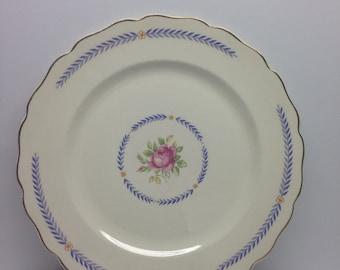 Vintage Canonsburg Pottery Keystone DU BARRY  8 inch Salad Plate