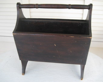 Antique Magazine Rack #072714