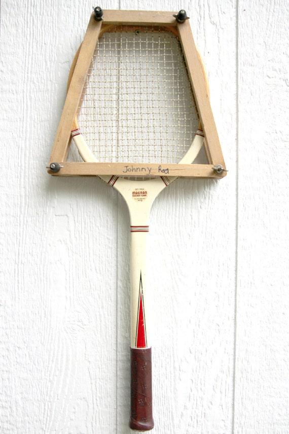 raquette de tennis en bois vintage bois de raquette de. Black Bedroom Furniture Sets. Home Design Ideas