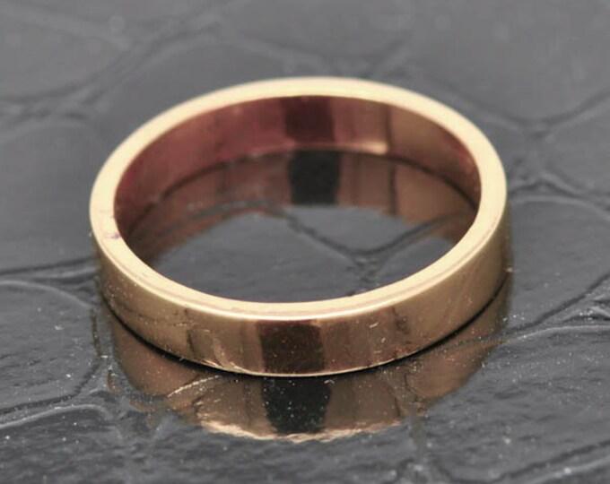 14K Rose  Gold Ring, 2mm x 1.5mm, Wedding Band, Wedding Ring, Rose Gold Band, Flat Band, Square Band, Size up to 12