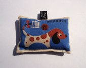 Lavender bag with cute pop art Chinese zodiac dog design