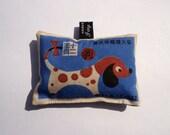 Lavender bag with cute pop art Chinese zodiac dog design