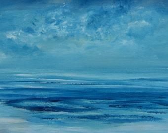 Blue Majesty Original Seascape Canvas Painting 16x20 by Sheri Wilson