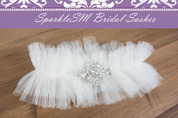 Bridal Garter Wedding Garter Belt Rhinestone Garter Toss Garter Crystal Garter Custom Garter Keepsake Garter White Garter Bridal Accessories