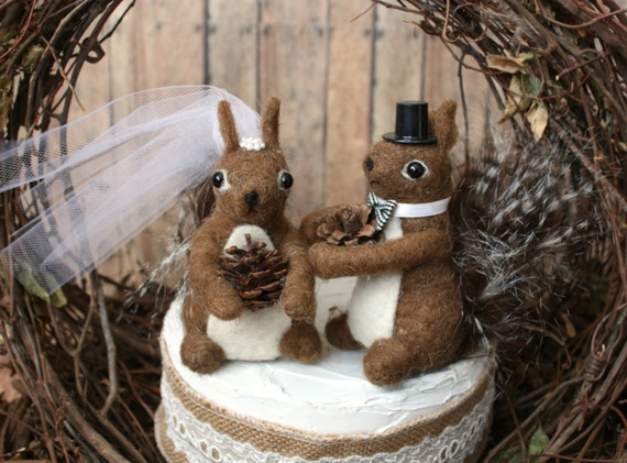Private Listing Fortiffany Squirrel Wedding Cake