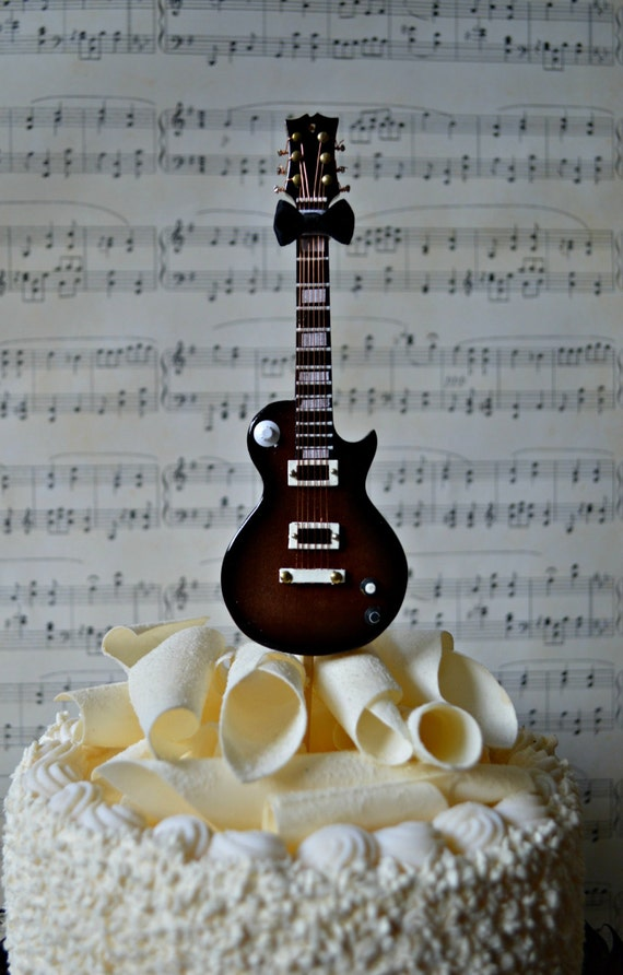 electricguitarweddingbirthdaygrooms cakecake