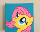 5in x 5in Fluttershy Painting