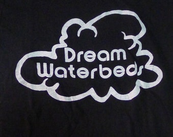 Vintage 80s Dream Waterbeds Black T-Shirt