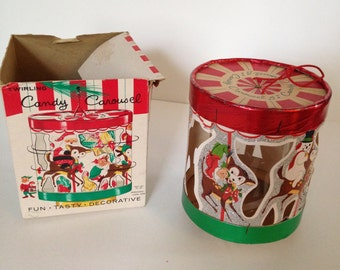"Christmas ""Candy Carousel"" - Super Cute Vintage Christmas"