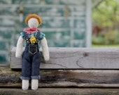 Needlefelted Waldorf Doll. Mountain Child Series 001. Handmade Penny Doll by alyparrott on Etsy.