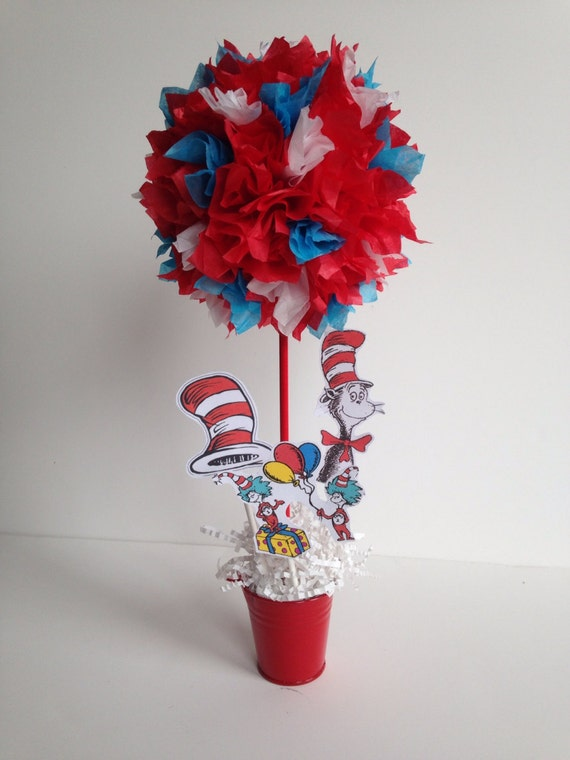 Dr Seuss Birthday Party Decoration Centerpiece By