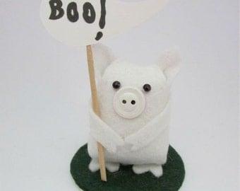 Granville the Ghost Pig - Halloween Pig - Spooky Pig