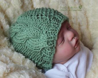 Knitting PATTERN - Knit Cable Hat Pattern - Knitting Patterns for Men - Baby Knitting Patterns - Includes 6 Sizes - Pattern 369
