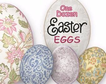 Floral Easter Eggs DIY Easter-Transparent Background-Instant Download, Printable Easter Graphics, PNG Crafts,scrapbook clip art