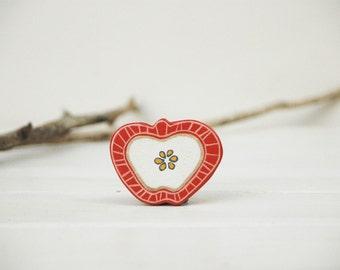 Red Apple Brooch Fruit  Brooch Food Jewelry