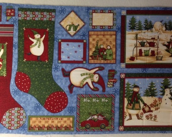 Debbie Mumm Fabric Panel - Christmas Stockings - Quilt panel - Arctic Holiday - Out of Print
