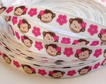 3/8 Monkey Ribbon- 3 Yards