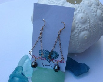 Tahitian Pearl 14kt Gold Filled Earring