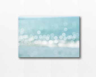 abstract beach canvas print bokeh photography canvas coastal 12x18 fine art photography canvas print nautical decor canvas wrap blue pastel