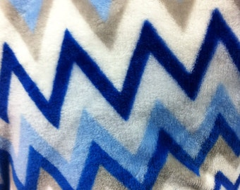 Zigzag/Chevron Design Micro Fleece Fabric