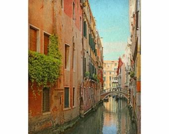 blue coral wall art, Venice Italy photos, Venice travel photo, Venice photograph, Venice photography, Venice wall art, Venice, Venice print