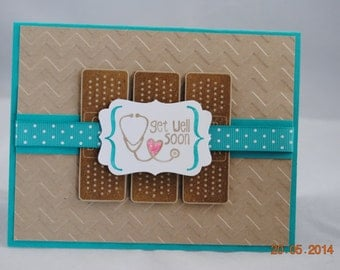 Handcrafted Band-Aid Get Well Soon Card