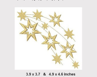 Star Spray Machine Embroidery Design