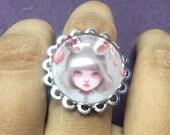 Lolita bunny ring