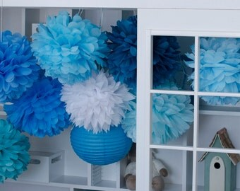 20  Large 37 cm Tissue PomPoms- pick your colors  wedding party decorations / Bridal Baby Shower  / 1st Birthday