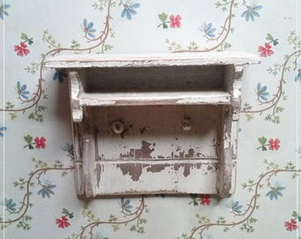 Rustic shelf, miniature, dollhouse