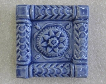 Ceramic Accent tile -- ButterMold 2x2 accent tile, decorative accent tile, Made to Order