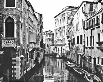 Venice, Fine Art Photograph, Venetian, Italian Decor, Italy, Grand Canal, Wine Country, Kitchen, Dorm, Balcony, Door, Window, Shutters,Water