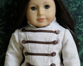 18 inch American Girl Doll Clothing Linen and Lace Jacket