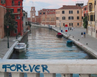FOREVER VENICE Italian Photography Fine Art Print No. 9380. Italy Photo Luxury Print Venice Pink Green Blue Red Nautical Boats