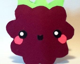 Handmade Kawaii Blackberry Card - Cardstock