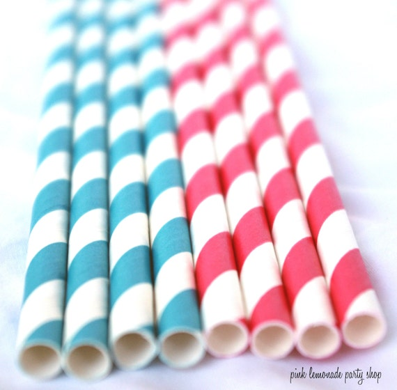 DR SeuSS INSPiReD---Paper  Straws-- red striped and peacock striped- -25ct with Free Printable diy Flags